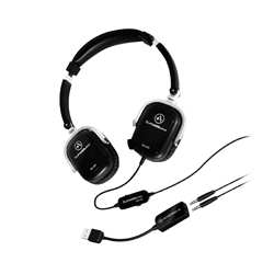 Andrea SuperBeam Headset w/ USB Adapter (Black)