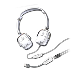 Andrea SuperBeam Headset w/ USB Adapter (White)
