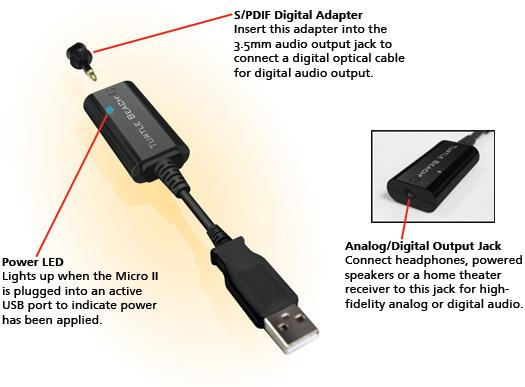 Micro Ii Usb Laptop Amp Pc Sound Card