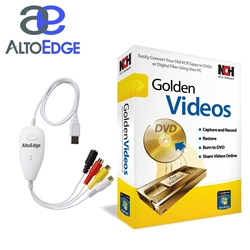 AltoEdge USB Audio/Video Capture Device w/ Golden Videos Software